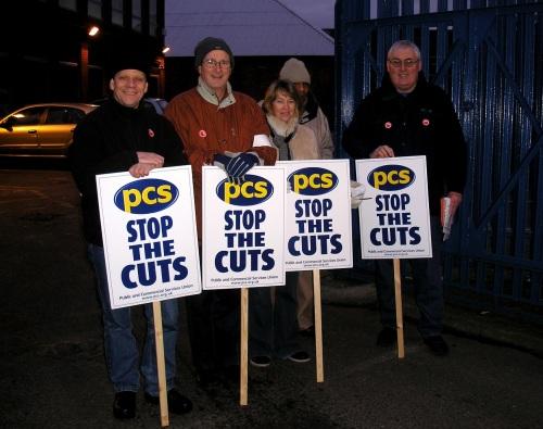 PSC_members_on_strike